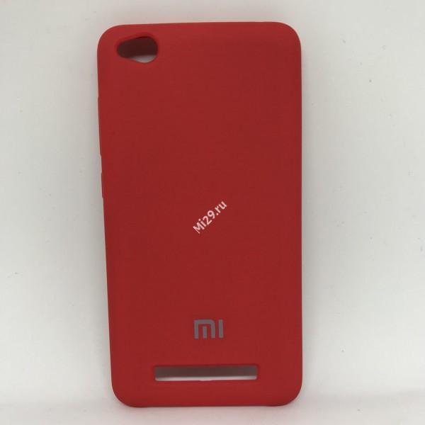 Чехол soft-touch красный Redmi 4A