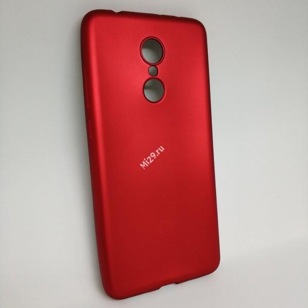 Чехол силиконовый J-Case красный Redmi 5