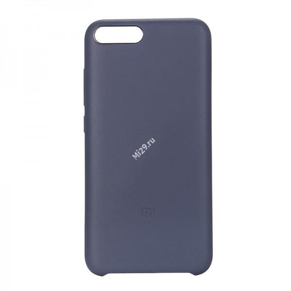 Чехол оригинальный Silicon Case Mi6 синий