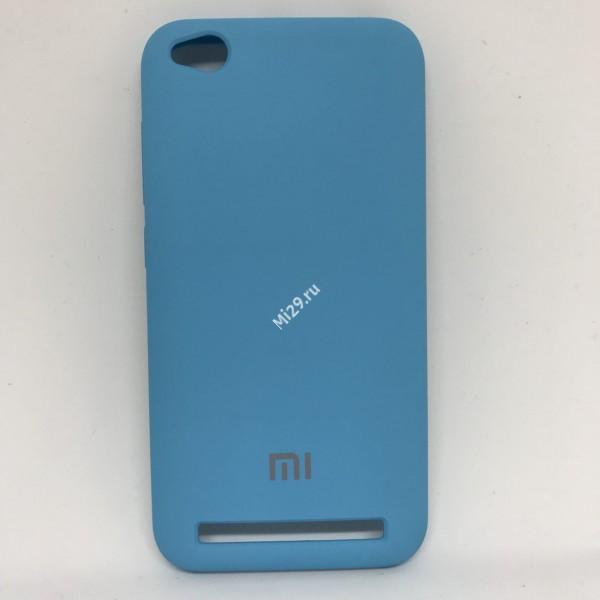 Чехол soft-touch голубой Redmi 5A