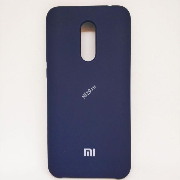 Чехол soft-touch темно-синий Redmi 5 Plus