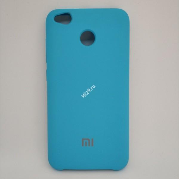 Чехол soft-touch голубой Redmi 4X