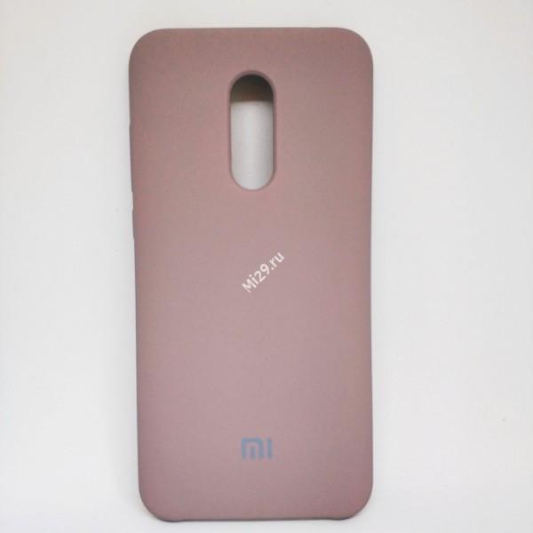 Чехол soft-touch бежевый Redmi 5 Plus