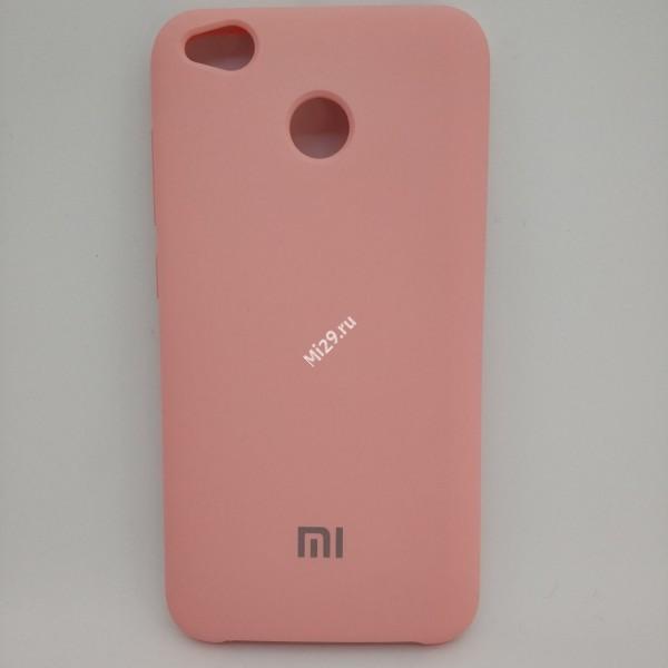 Чехол soft-touch розовый Redmi 4X