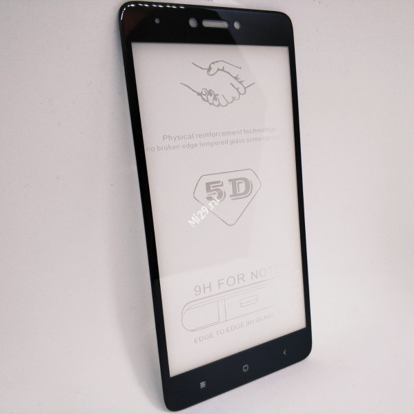 Стекло 5D Redmi Note 4X черное