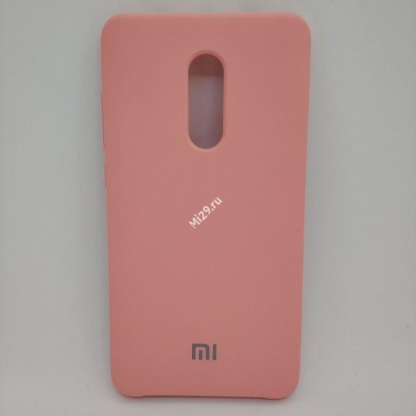 Чехол soft-touch розовый Redmi Note 4X