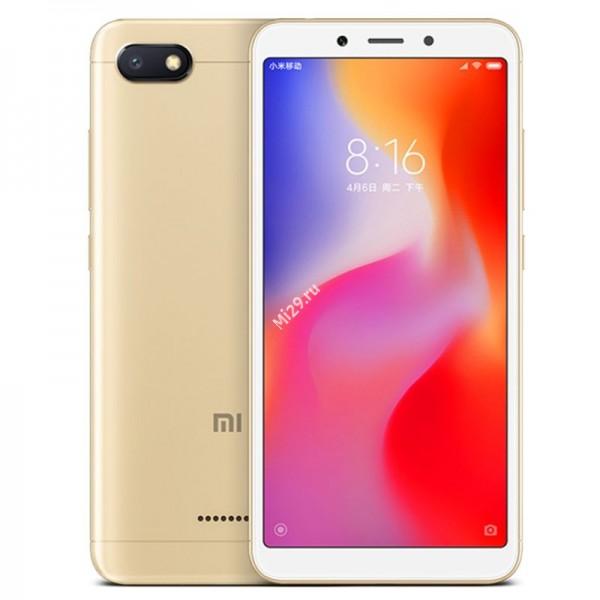 Смартфон Xiaomi Redmi 6A 2/16Gb золотой