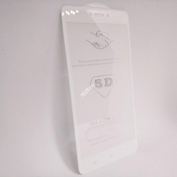 Стекло 5D Redmi Note 4X белое