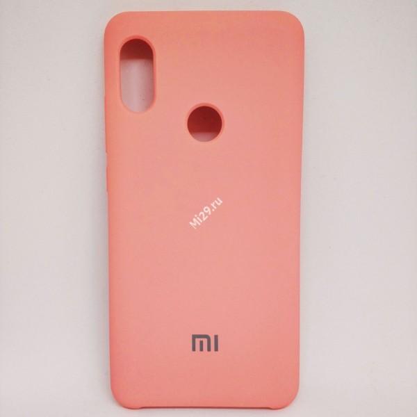 Чехол soft-touch розовый Redmi Note 5 Pro