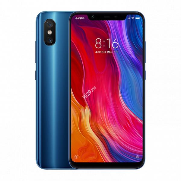 Смартфон Xiaomi Mi8 256Gb синий
