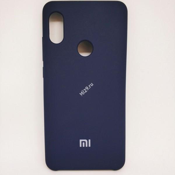 Чехол soft-touch темно-синий Redmi Note 5 Pro