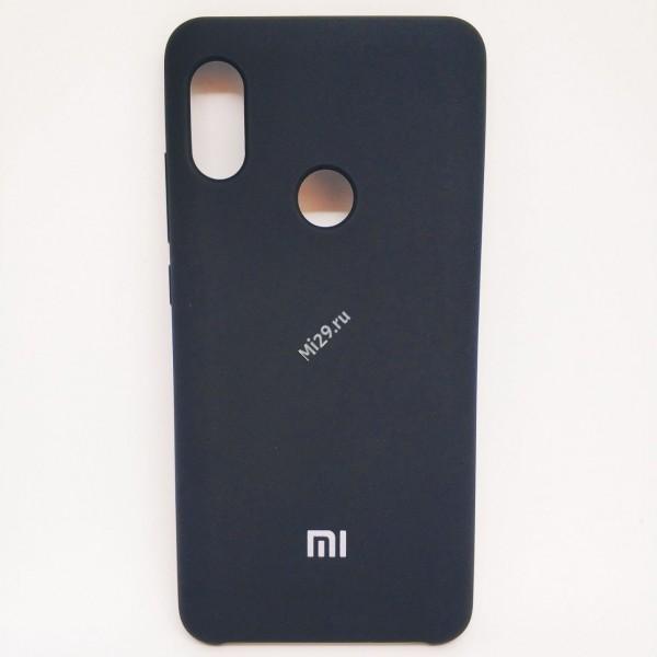 Чехол soft-touch черный Redmi Note 5 Pro