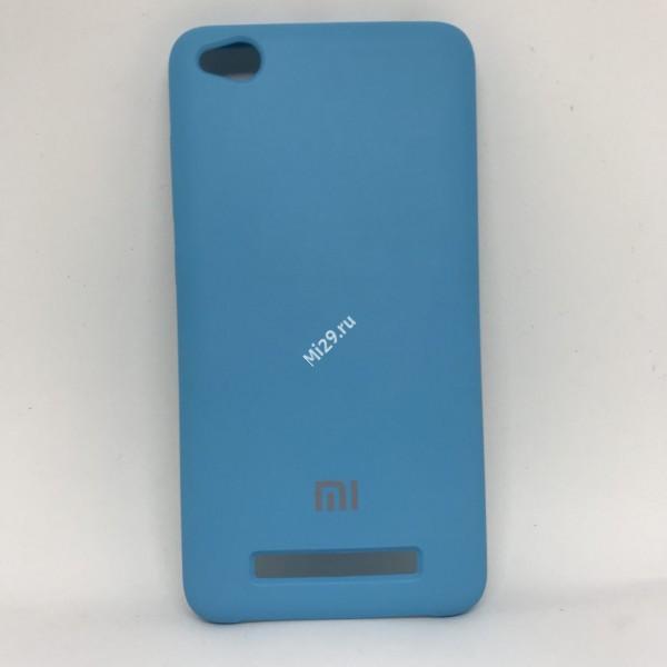 Чехол soft-touch голубой Redmi 4A