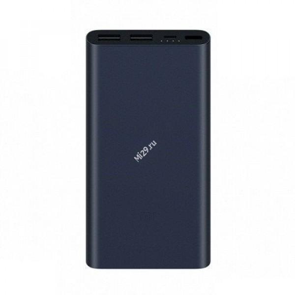 Внешний аккумулятор Xiaomi Mi Power Bank 2 10000 mAh Dual USB Quick Charge 3.0 черный