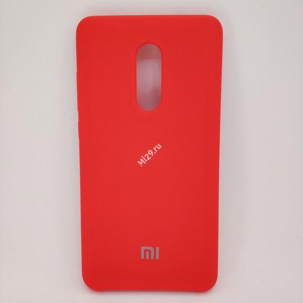 Чехол soft-touch красный Redmi Note 4X