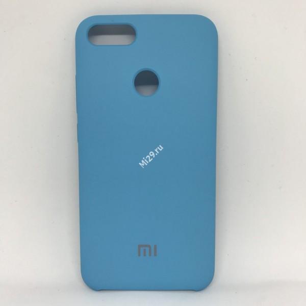 Чехол soft-touch голубой Mi A1