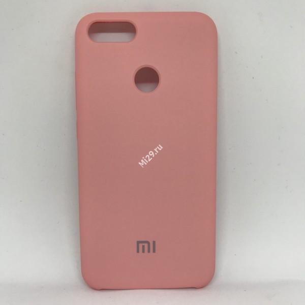 Чехол soft-touch розовый Mi A1