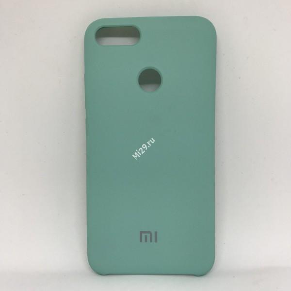 Чехол soft-touch бирюзовый Mi A1