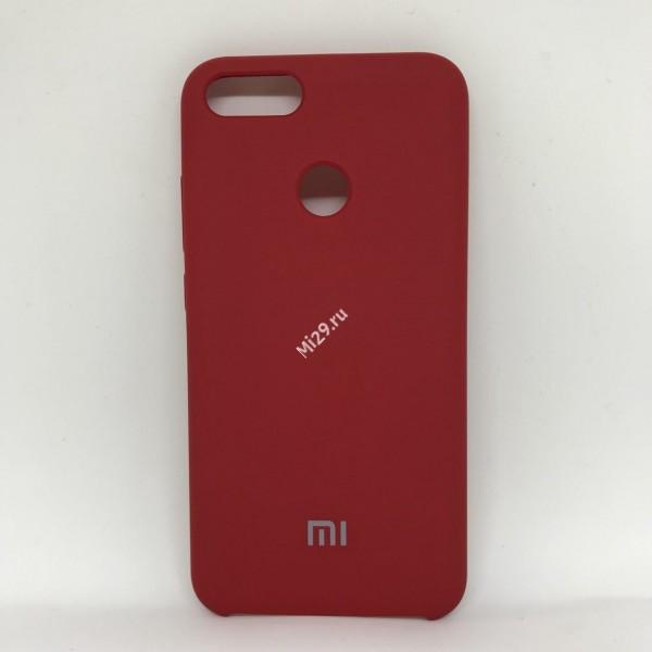 Чехол soft-touch красный Mi A1