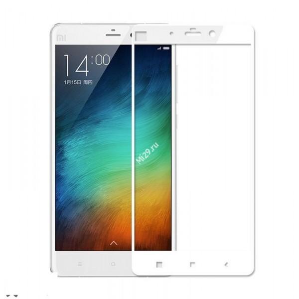 Стекло 3D Redmi Note 4 белое