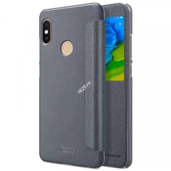 Чехол Nillkin Sparkle Leather серый Redmi Note 5 Pro