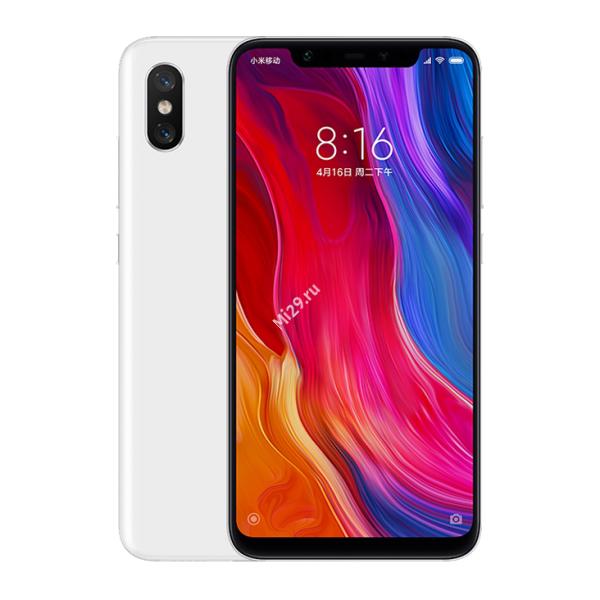Смартфон Xiaomi Mi8 64Gb белый
