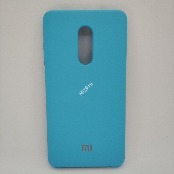 Чехол soft-touch голубой Redmi Note 4X