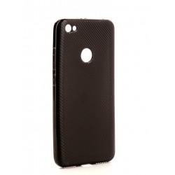 Чехол силиконовый матовый карбон Redmi Note 5A Prime