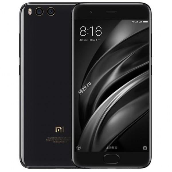 Смартфон Xiaomi Mi6 128Gb Ceramic Edition черный