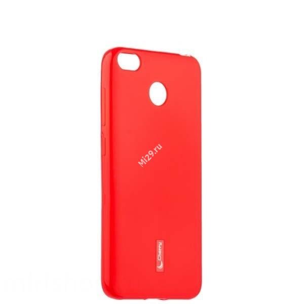 Чехол силиконовый Cherry красный Redmi 4X