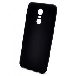 Чехол силиконовый матовый черный Redmi 5 Plus