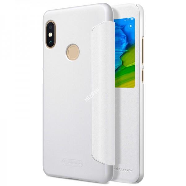 Чехол Nillkin Sparkle Leather белый Redmi Note 5 Pro