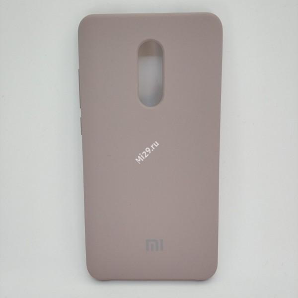 Чехол soft-touch бежевый Redmi Note 4X