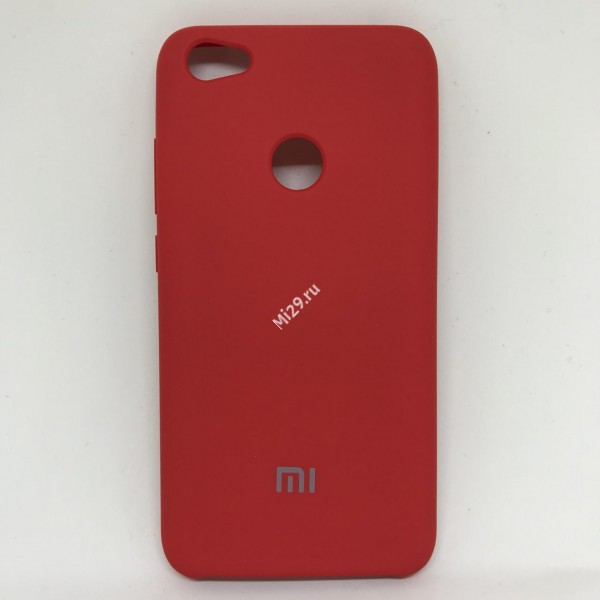 Чехол soft-touch красный Redmi Note 5A Prime