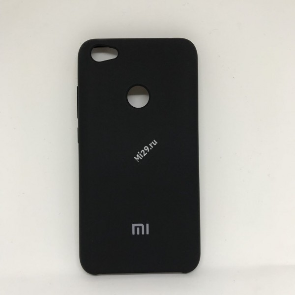 Чехол soft-touch черный Redmi Note 5A Prime