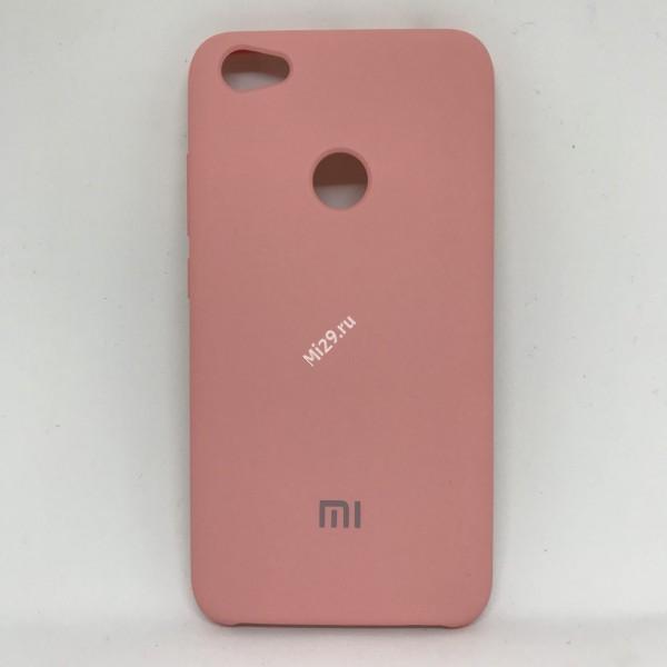 Чехол soft-touch розовый Redmi Note 5A Prime