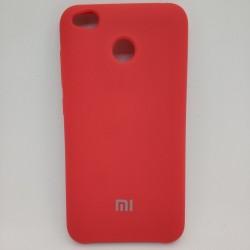 Чехол soft-touch красный Redmi 4X