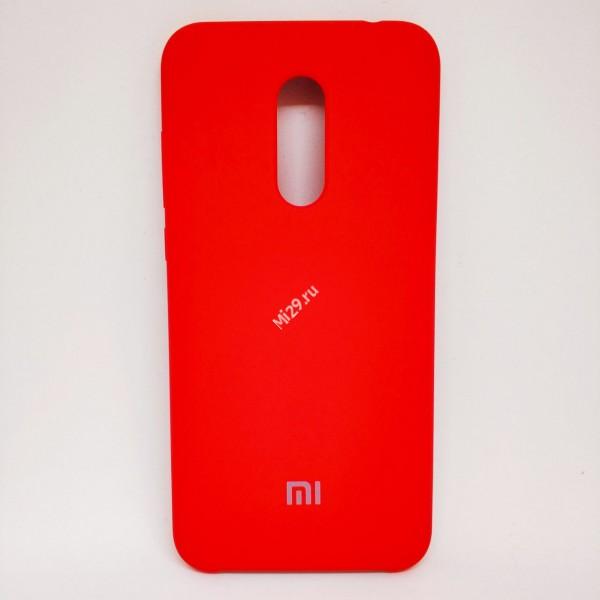 Чехол soft-touch красный Redmi 5 Plus