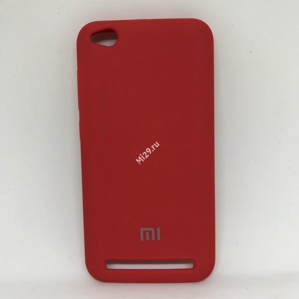 Чехол soft-touch красный Redmi 5A