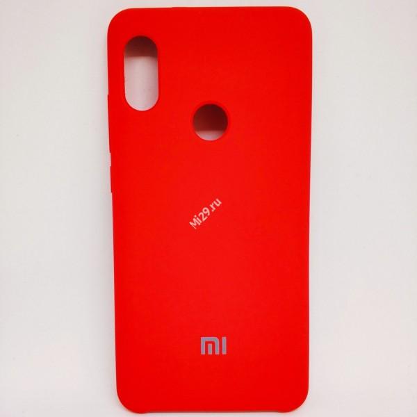 Чехол soft-touch красный Redmi Note 5 Pro