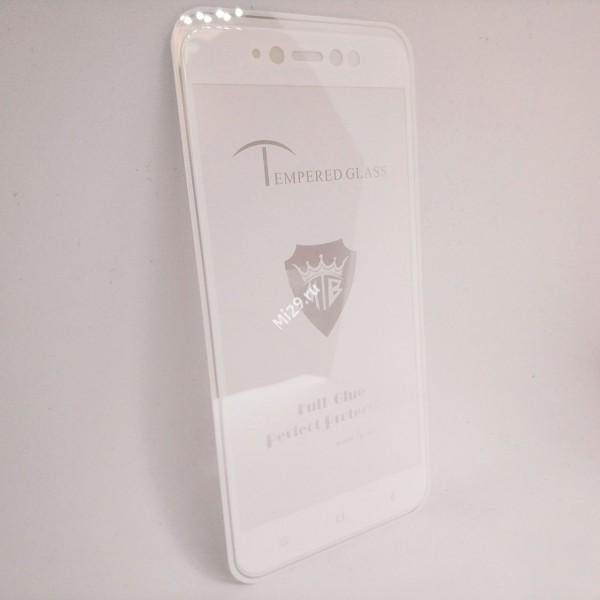 Стекло 2,5D Redmi Note 5A Prime белое