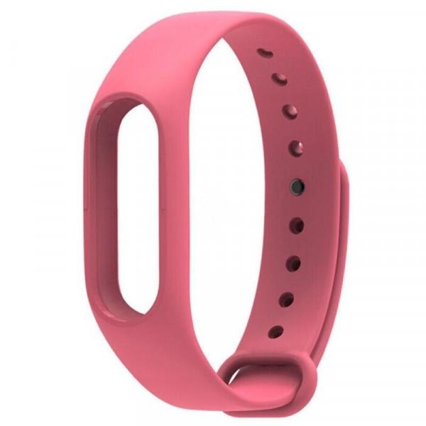 Ремешок силиконовый для Xiaomi Mi Band 2 розовый
