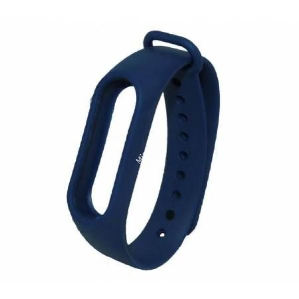 Ремешок силиконовый для Xiaomi Mi Band 2 темно-синий