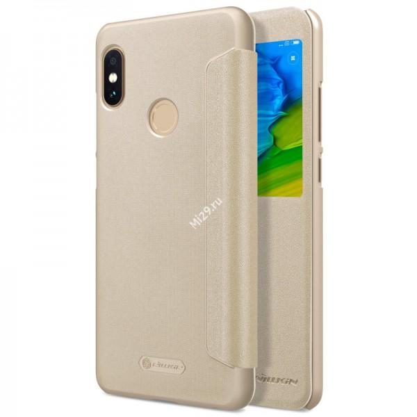 Чехол Nillkin Sparkle Leather золотой Redmi Note 5 Pro