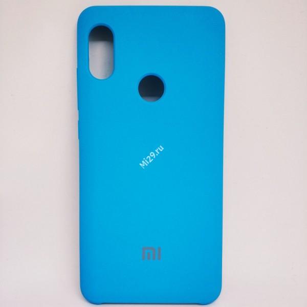 Чехол soft-touch голубой Redmi Note 5 Pro