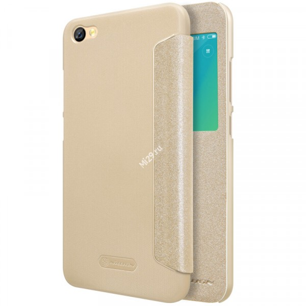 Чехол Nillkin Sparkle Leather золотой Redmi Note 5A 16Gb