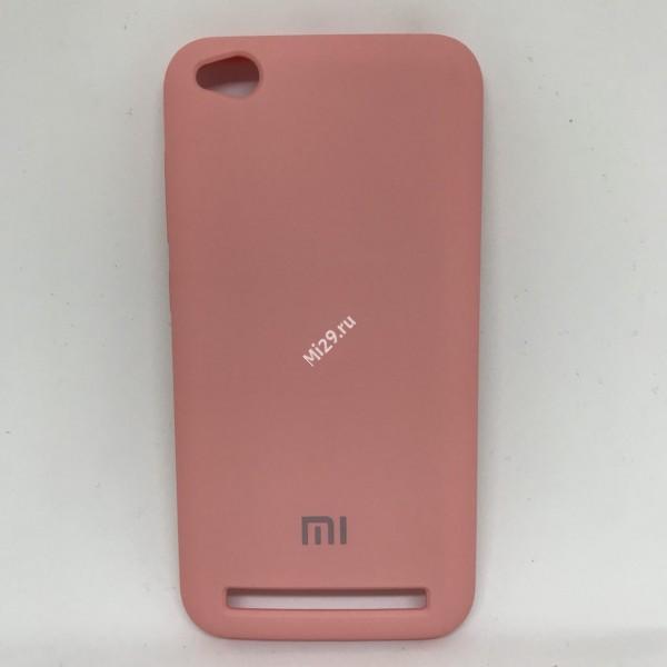 Чехол soft-touch розовый Redmi 5A