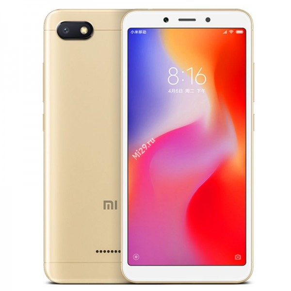 Смартфон Xiaomi Redmi 6A 2/32Gb золотой