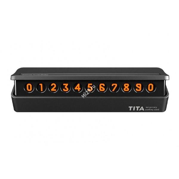 Табличка с номером телефона для авто Xiaomi Bcase TITA черная