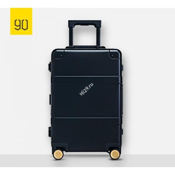 Чемодан Xiaomi RunMi 90 Points Metal Suitcase 20 Fingerprint Unlock черный
